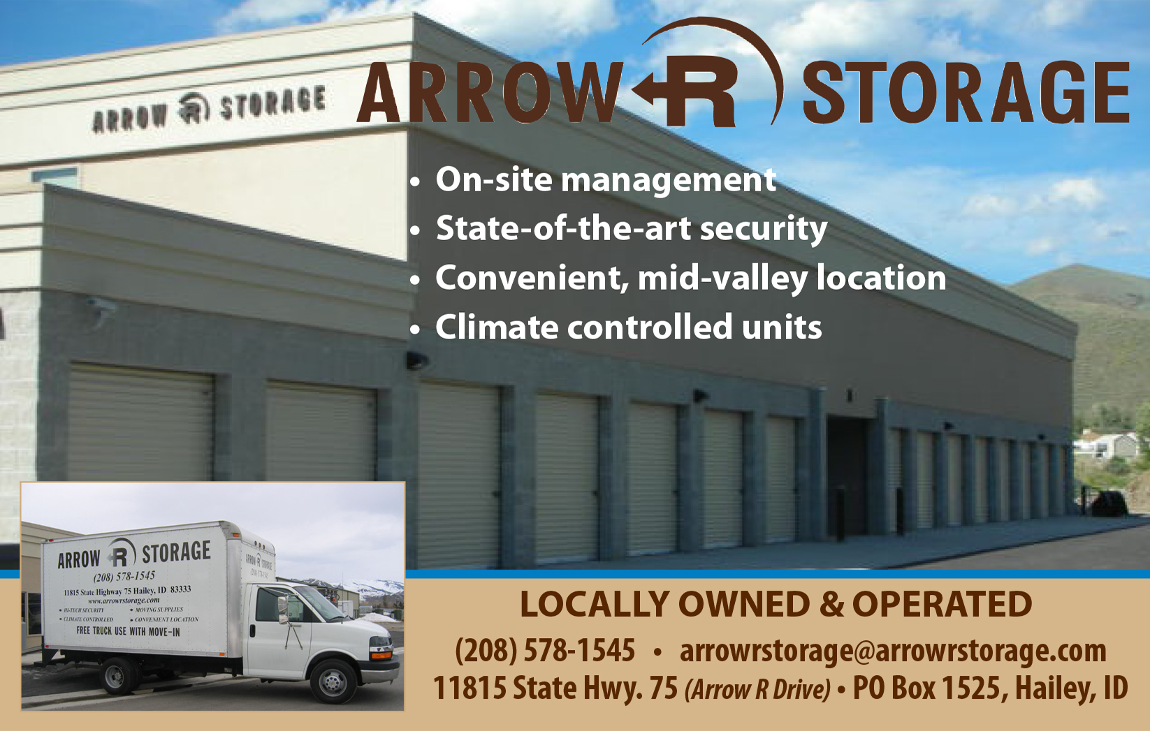 Arrow R Storage — Company of Fools Season Sponsor