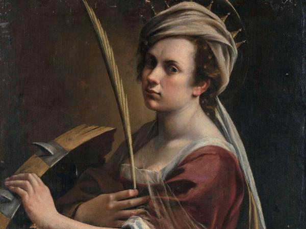 Artemisia Gentileschi, Self Portrait as Saint Catherine of Alexandria, 1615-17, Oil on Canvas, Collection of National Gallery, London