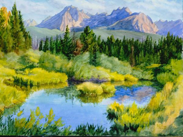 Watercolor Foundations, Sawtooth Pond by Susan Perin