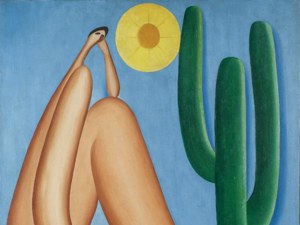 Tarsila do Amaral, Abaporu, 1928, oil on canvas, collection of Museo de Arte Latinoamericano de Buenos Aires (MALBA